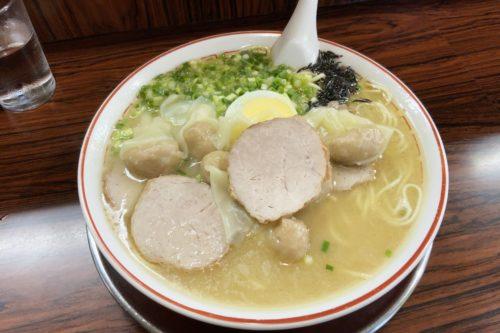 今更九品寺の人気ラーメン店「ラーメン呑龍」に行って人気のワンタン麺食べてきたぞ!