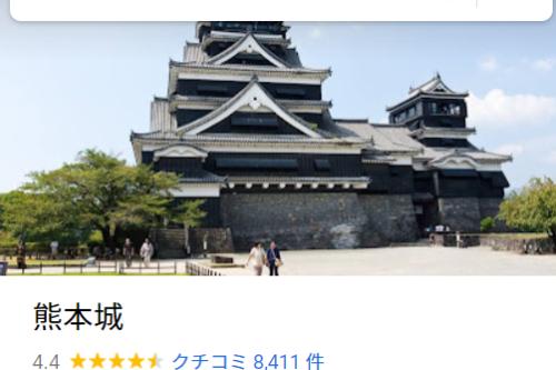 Googleマップの口コミ件数が熊本で一番多い場所はどこなのか調べてみた