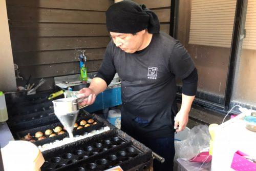西原村の「神戸蛸焼(たこやき)」があそ望の郷くぎのに移転!試作中の「焦がしにんにく熊本味」を食べてみた!