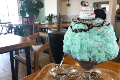チョコミン党員の皆さん朗報です。東区の台湾かき氷店ぺんぎんカフェさんに「チョコミントかき氷」があると聞いて行ってきた!