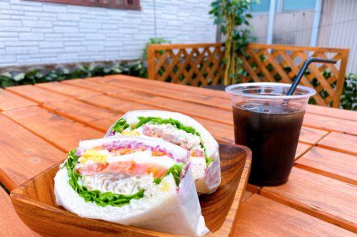 玉名市にオープンしたサンドイッチスタンド「王さまサンド」の萌え断サンドイッチ!