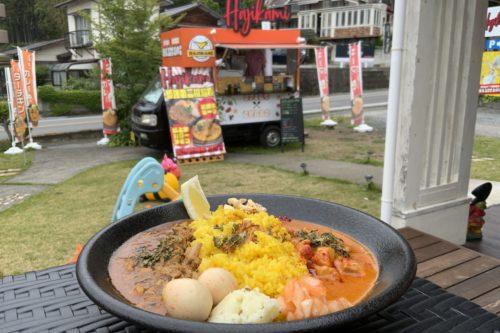 4月オープン!北区飛田にある「HajikamiCurry(ハジカミカレー)」はテラスで食うと開放感がやばい